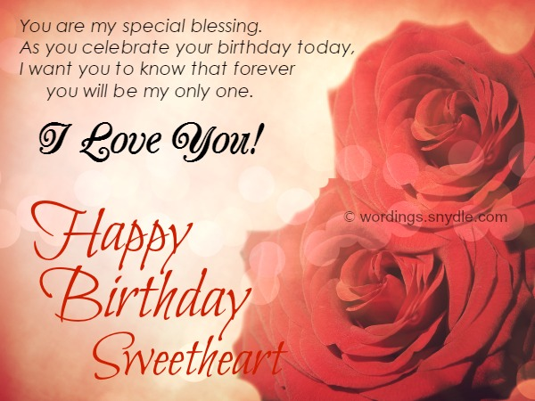 Birthday Wishes For Him Love ~ Cute images of romantic birthday wishes for husband from wife