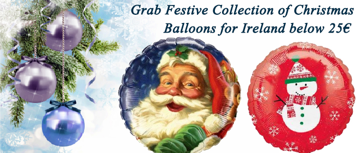 Grab Festive Collection of Christmas Balloons for Ireland below 25€
