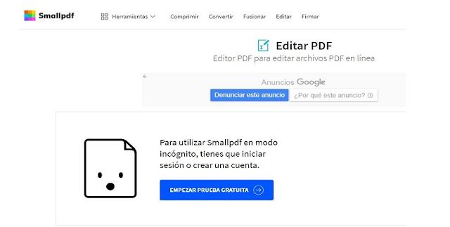 SMALLPDF CONVERTIDOR DE PDF