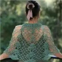 Capa o Chal Mirada a Crochet