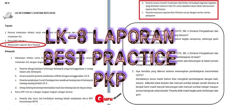 GAMBAR LK-8 LAPORAN BEST PARCTICE