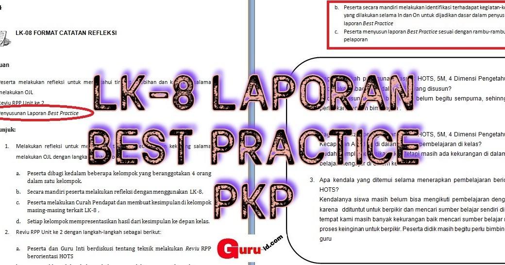 Lk 8 Format Catatan Refleksi Kegiatan In 4 Peserta Pkp Info Pendidikan Terbaru