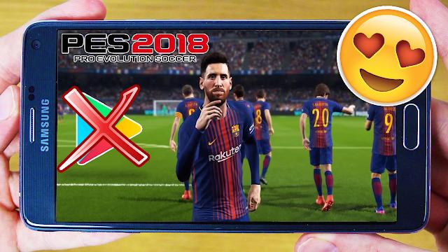 سارع لتحميل لعبة بيس 2018 Pes لهواتف الأندرويد باخر الإنتقالات ! لعبة خرافية ! (اوفلاين)