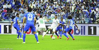 مقابلة فريق الهلال امام الاهلي السعودي ضمن اطار الدوري السعودي