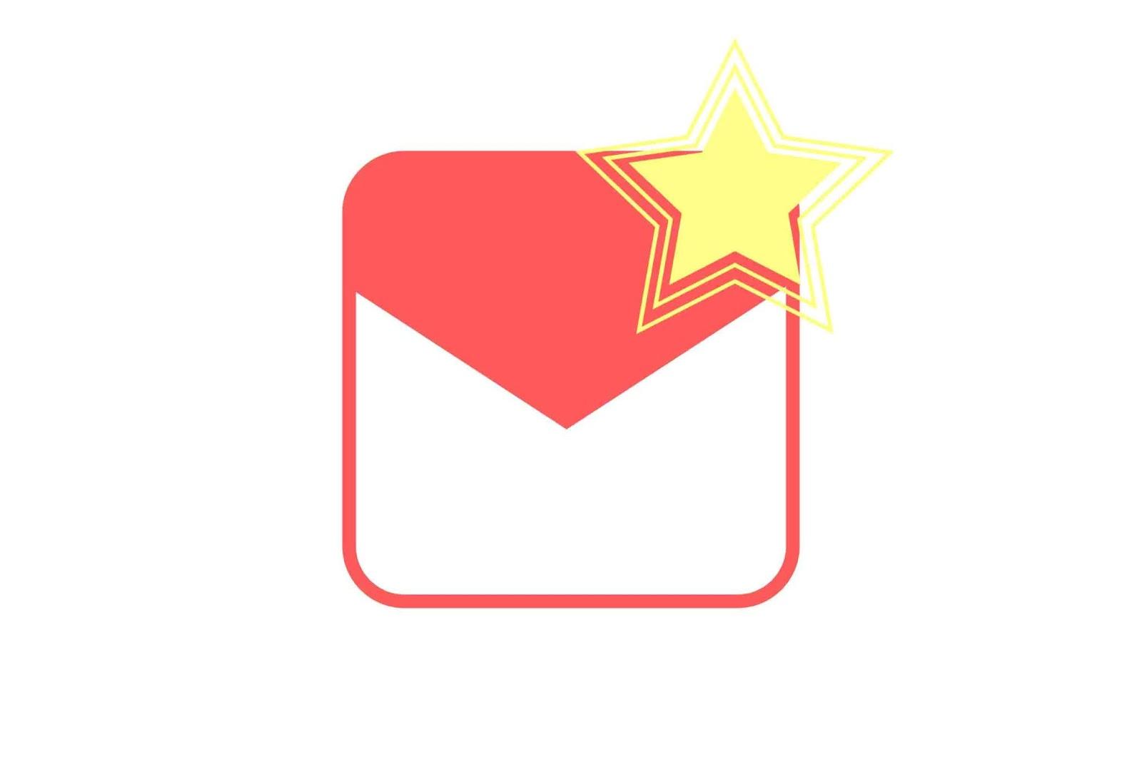cara mengantu icon bintang gmail berwarna