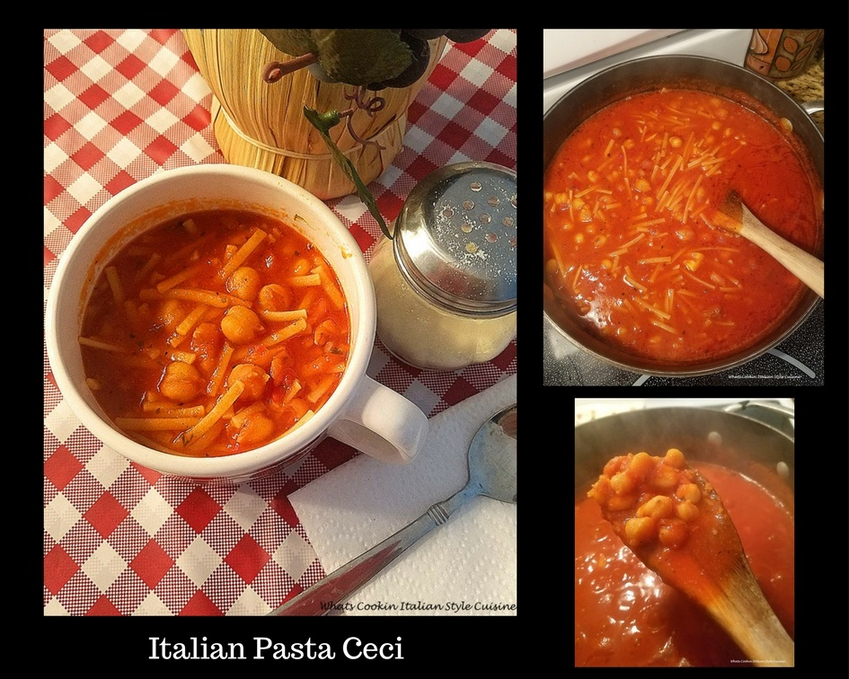 Italian Pasta Ceci  Chickpeas and Pasta old fashioned garbanzo beans with macaroni