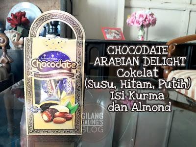 CHOCODATE Arabian Delights ini adalah cokelat unik dari dubai united arab emirates yang punya 3 varian rasa