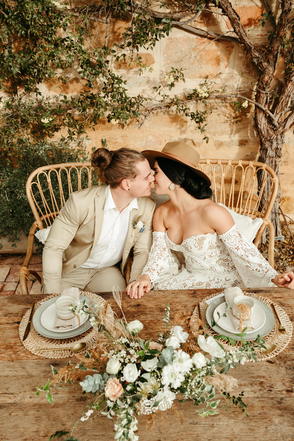 jessica mary photography adelaide hills weddings photography bridal gown floral design boho bride decor