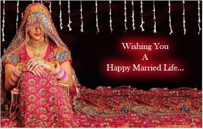 Quotes About Happy Marriage life: wishing you a happy married life.