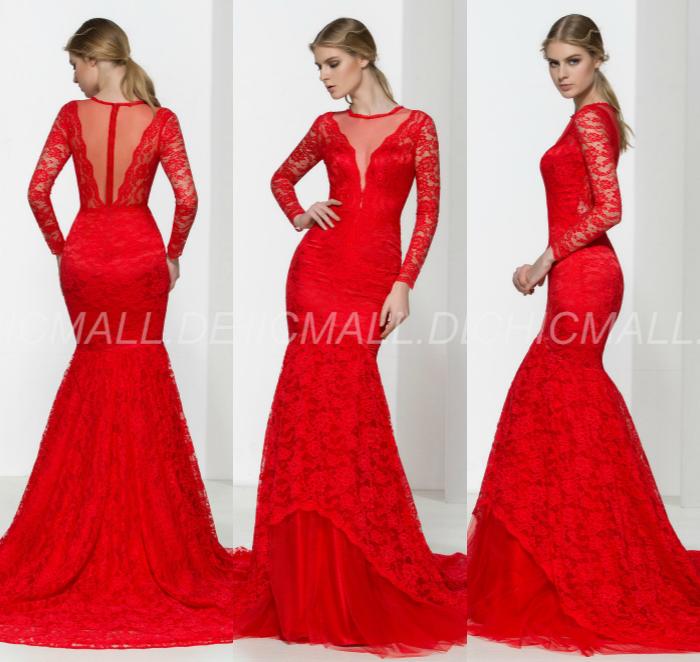 elegante und luxuriöse reißverschluss, offizielle winter sommer roten spitzen sanduhr kleid