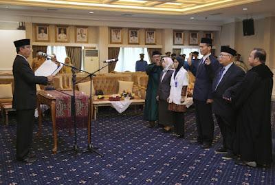 Pjs. Gubernur Didik Lantik 4 Pejabat Fungsional RSUD Abdul Moeloek
