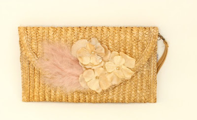 PV 2017 - Coleccion Oro Duro 13  Cartera rafia flores