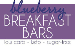 Low Carb Blueberry Breakfast Bars
