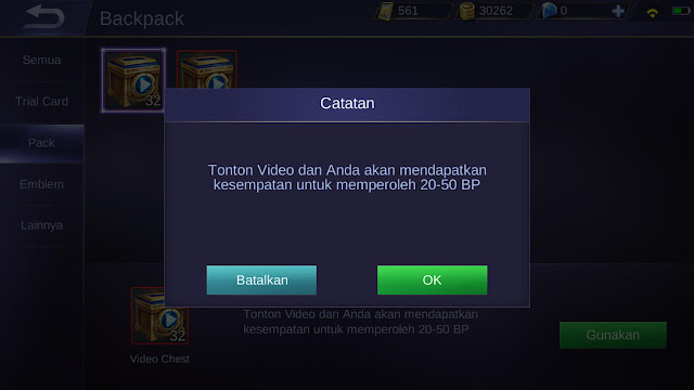 Battle Point dari Battle Chest ML