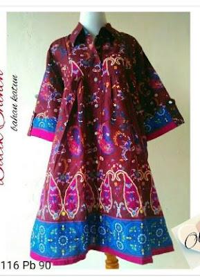 Model tunik batik casual