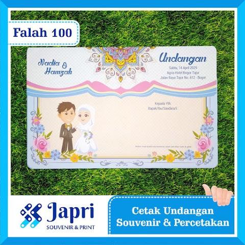 Cetak Undangan Pernikahan Blangko Falah 100