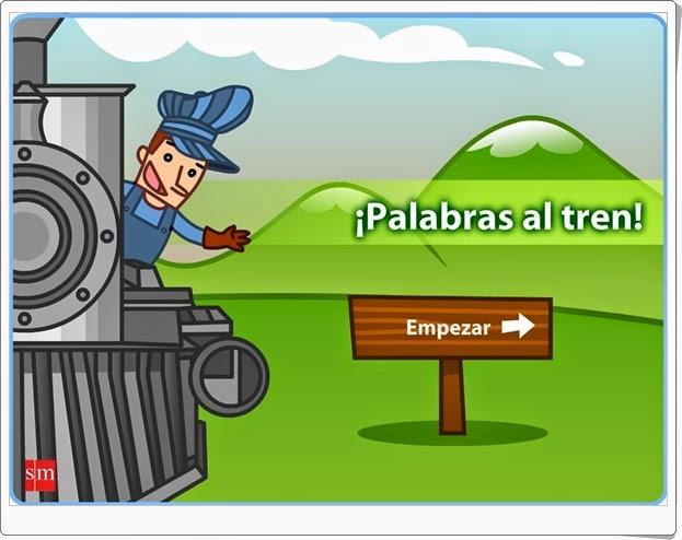 """""""¡Palabras al tren!"""" (Juego de Lengua española de Primaria)"""