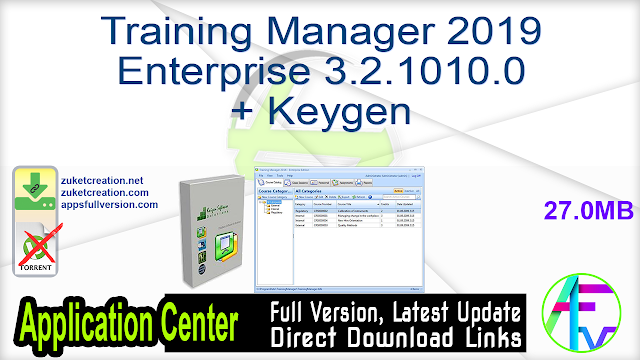 Training Manager 2019 Enterprise 3.2.1010.0 + Keygen