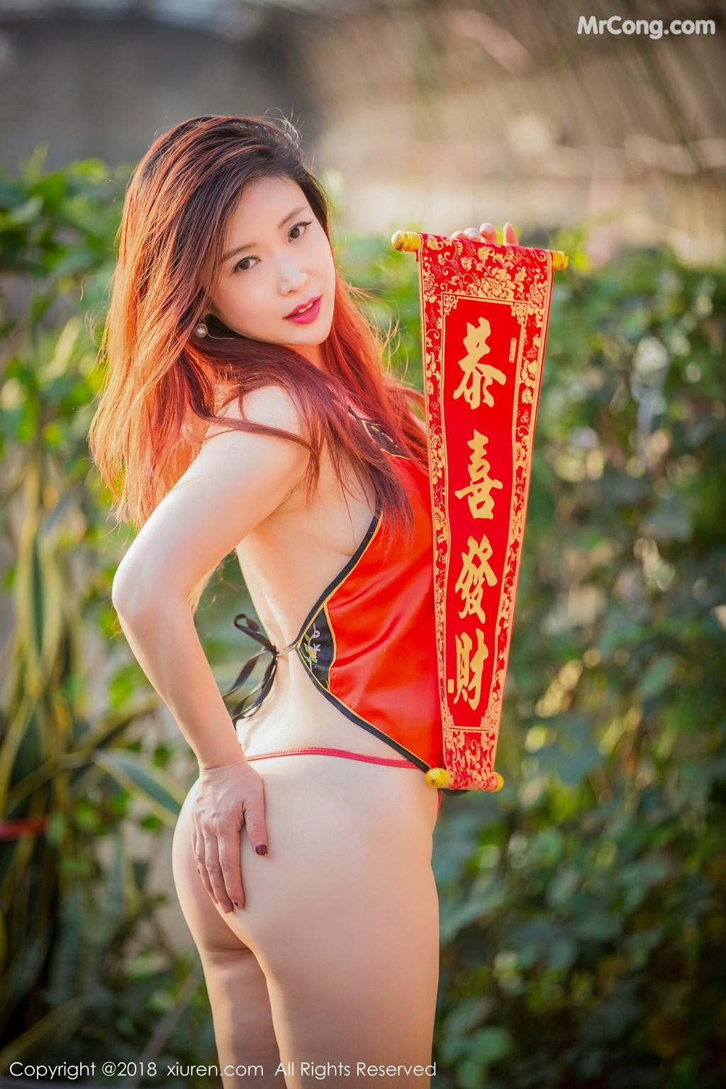 Image XIUREN-No.887-Xi-Xi-Bai-Tu-MrCong.com-003 in post XIUREN No.887: Người mẫu Xi Xi Bai Tu (西希白兔) (44 ảnh)