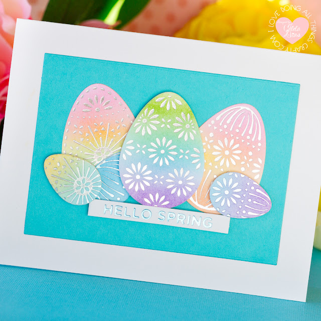 Foiled Easter Egg Card | Spellbinders March 2020 Glimmer Hot Foil Kit of the Month