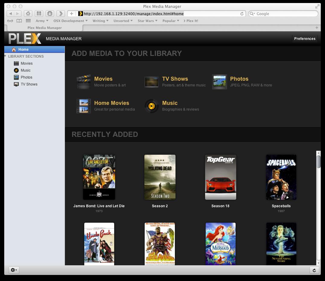 Chris Lyons: How to add files plex media server on ubuntu 11 10