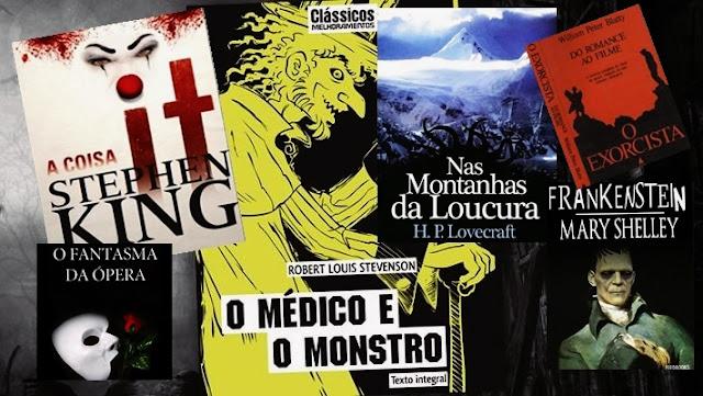 livros de terror, livros clássicos de terror, dicas de livros de terror, literatura de terror