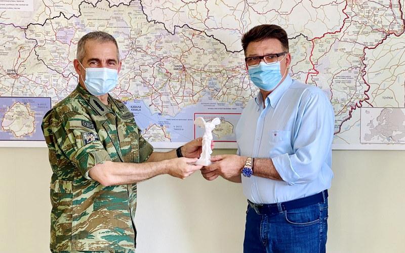 Εθιμοτυπική συνάντηση του Αντιπεριφερειάρχη Έβρου με τον Διοικητή του Δ' Σώματος Στρατού