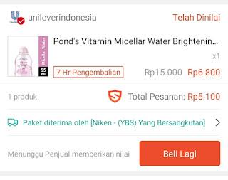 Belanja micellar water secara online salah satunya bisa dilakukan di Shopee