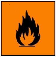 simbol bahan kimia berbahayaFlammable (Mudah Terbakar)