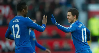 John Obi Mikel revealed how he once felt like training with Hazard