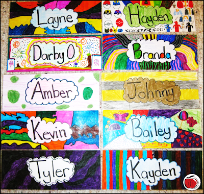 student examples of name tags Terri's Teaching Treasures