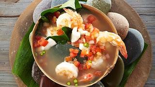 comida chinanteca caldo de piedra