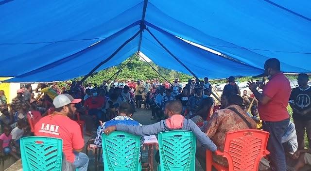 Pilkada Sorsel : Relawan MALU Gelar Pertemuan Perkuat Basis Utama Sawiat Raya di Distrik Fkour