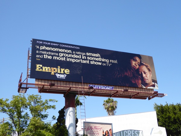 Empire season 2 Emmy 2016 billboard