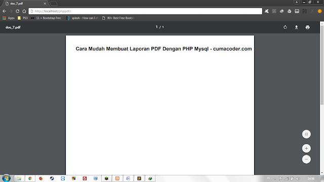 Cara Mudah Membuat Laporan PDF Dengan PHP MYSQL