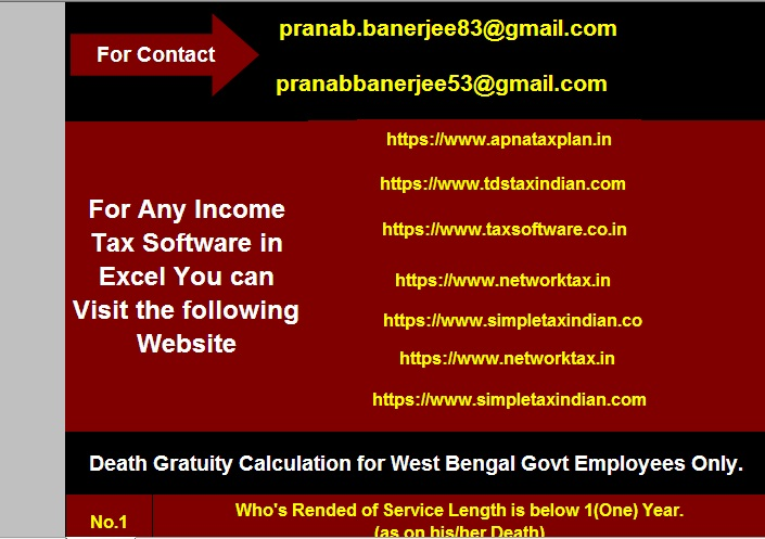 Automated Death Gratuity Calculator for the West Bengal Govt