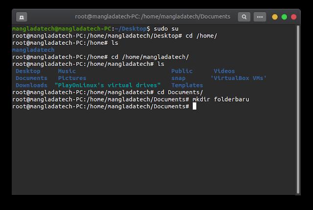 make folder on linux