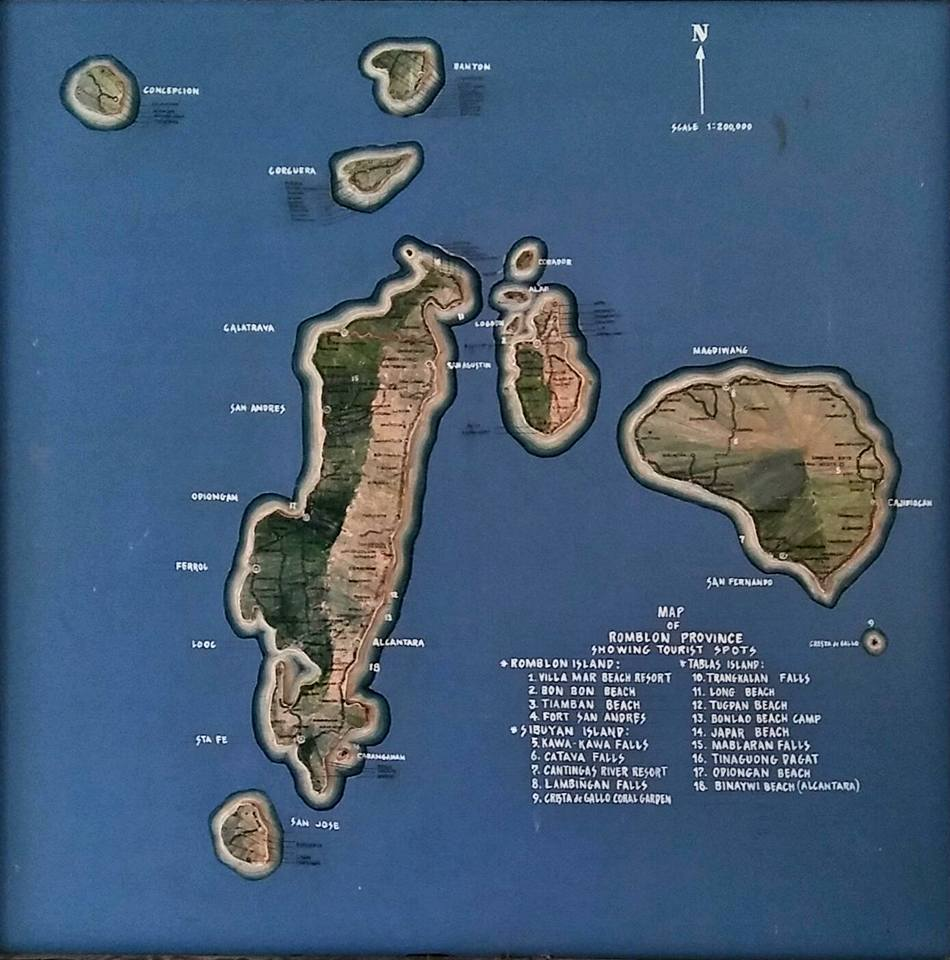 this is the map of romblon province this is paradise right here