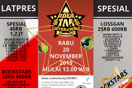 Latpres Spesial Rockstars Enterprise Rabu 20/11/2019