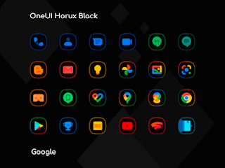 OneUI Horux Black – Icon Pack Apk v1.2 [Patched]