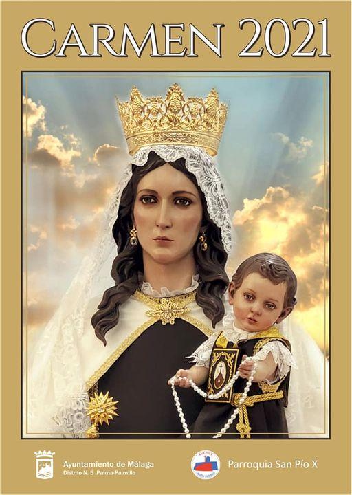 Cartel Virgen del Carmen 2021 de la Parroquia San Pio X de Málaga