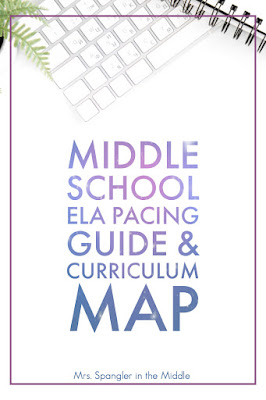 Plan out your Middle School ELA year with this FREE pacing guide & curriculum map!  #teaching #lessonplanning
