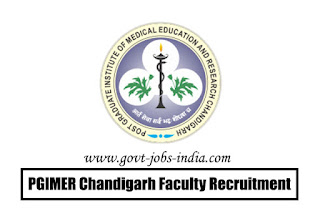 PGIMER Chandigarh faculty Recruitment 2020