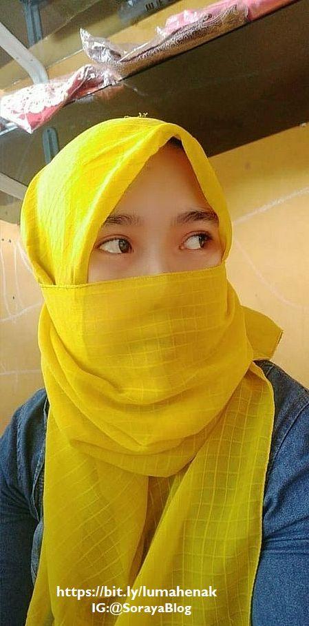 photo soraya cewek memakai cadar masker berjilbab
