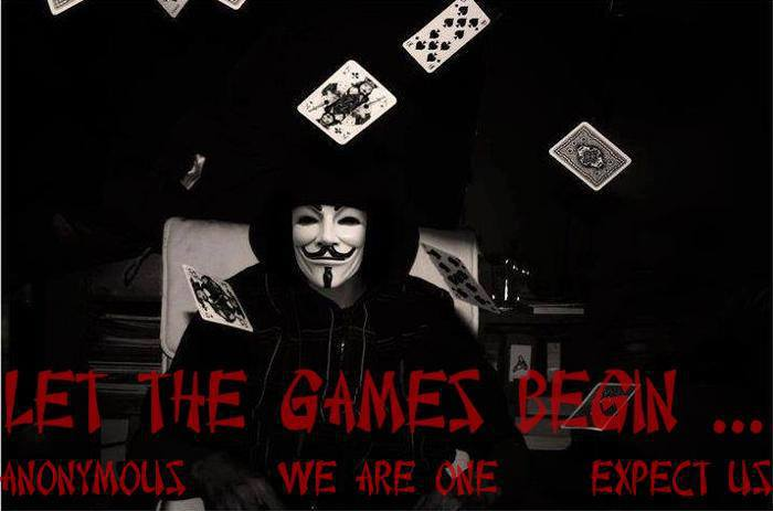 Let The Games Begin Anonymous We Are One Expect Us