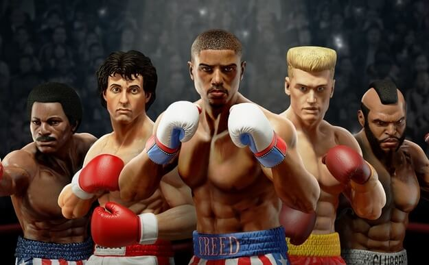 Rocky Balboa is wearing gloves again in the game Big Rumble Boxing: Creed Champions
