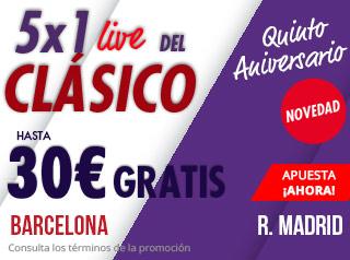 suertia promo 30€ en vivo el clasico 28 octubre