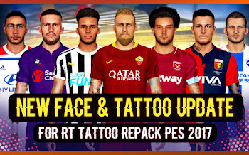 New Face & Tattoo Repack   +800   PES2017   PC