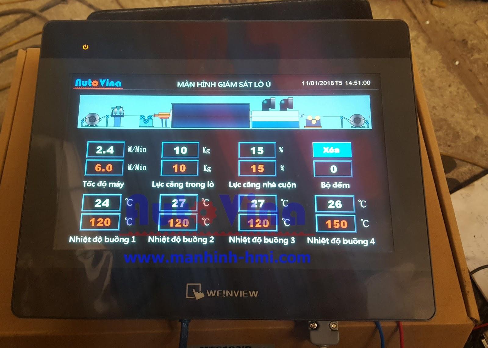 Ví dụ lập trình màn hình cảm ứng HMI MT6103iP