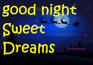 good night greetings card